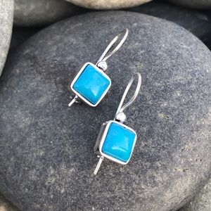 Sundance sterling Silver EARRINGS turquoise STONE